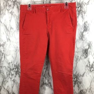 GAP | Skinny Mini Khakis Coral Red Ankle Length 6